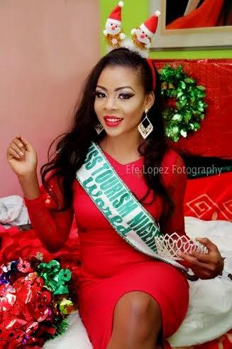 [Photos] Miss Tourism Nigeria 2014 Shares Christmas Shots