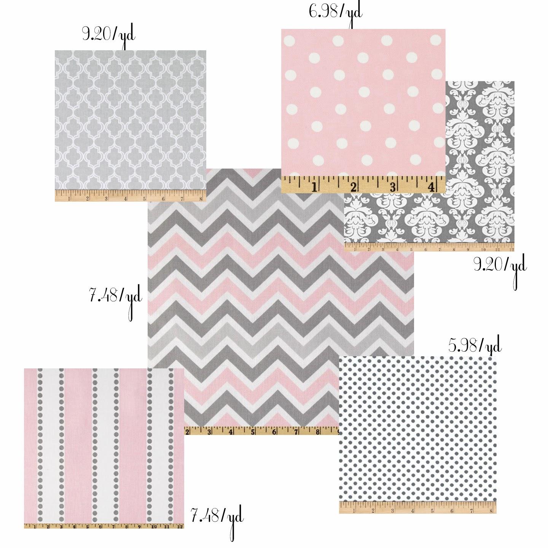 Style with wisdom pink and grey nursery for Grey nursery fabric