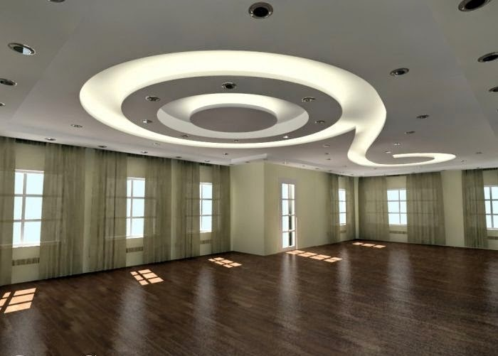 4 curved gypsum ceiling designs for living room 2015 for Ceiling designs for living room images