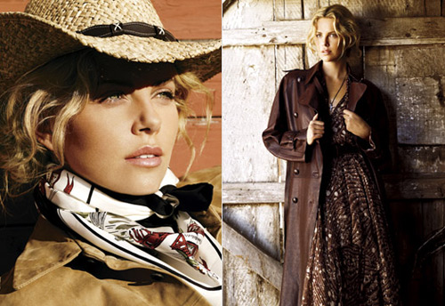 Charlize Theron in the October 2007 issue of Vogue