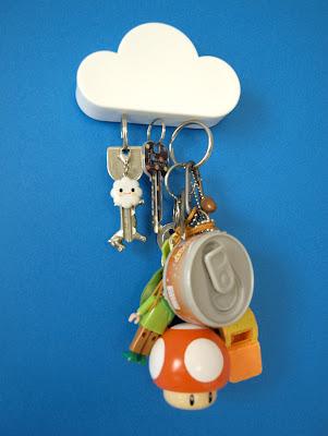 magnetic key holder, cloud shape
