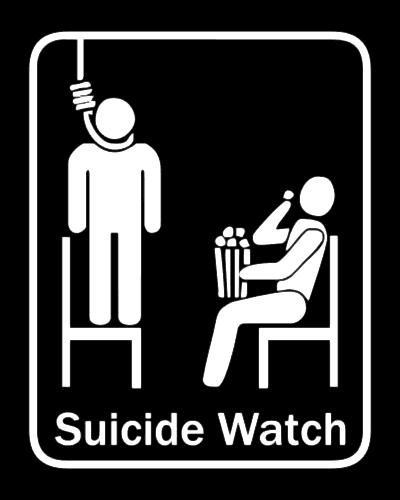 Suicide Watch, T-shirt motiv -- Overvågning selvmord (vagt)