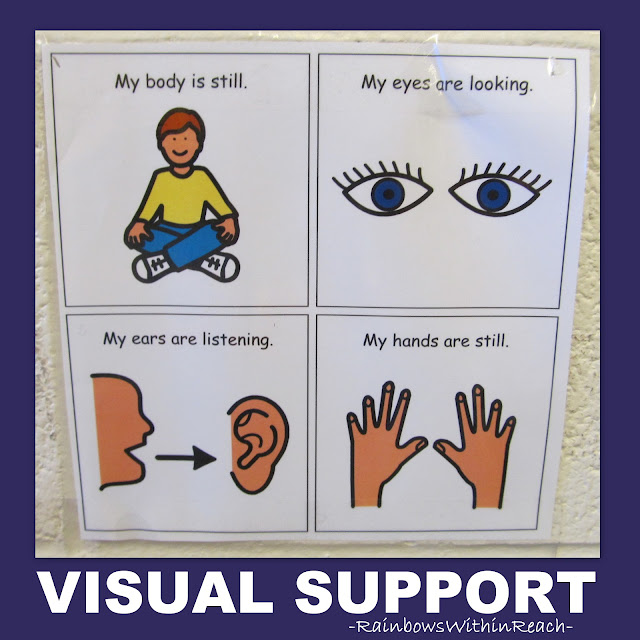 Visual support 'pictograms' for expected behavior at school