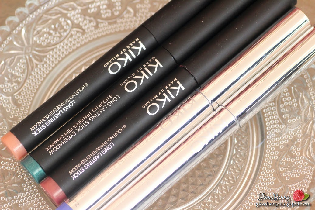 eyeshadow shadow sticks twist up  kiko emerald green golden mauve passion fruit green smoky smokey iris grey  review swatches 36 21 10 31 33 italian shadowstick green blue pink gold צלליות סטיק מסתובבות קיקו   בלוג איפור וטיפוח גלוסברי glossberry