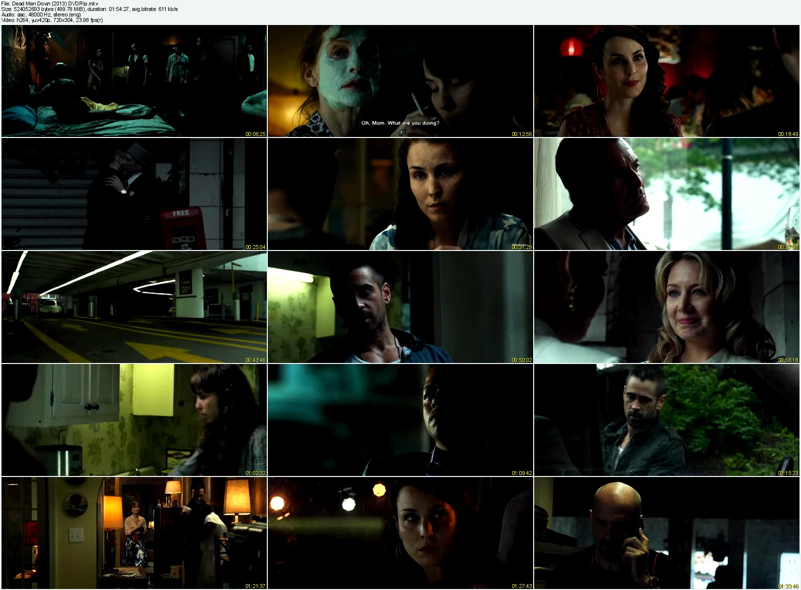 Dead Man Down (2013) DVDRip 500MB Mkv