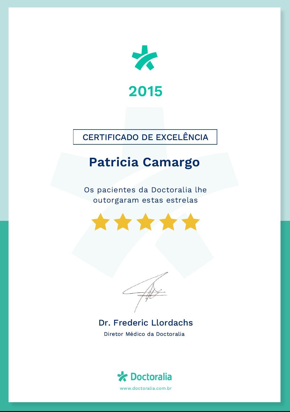 Certificado de Excelência Doctoralia 2015