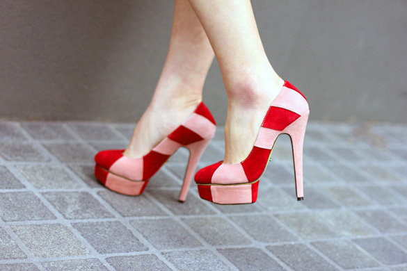 Tony Bianco Candy Stripe Heels