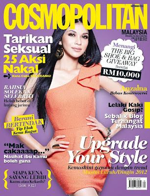 anzalna jadi cover majalah cosmopolitan terbaru