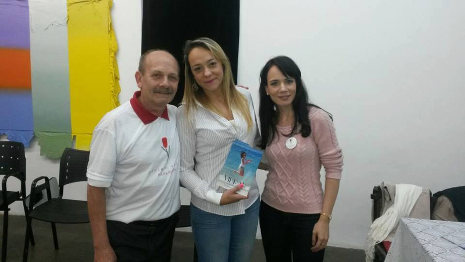 Manoel e Danielle com Marina Toth