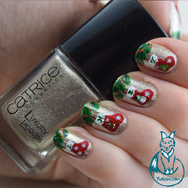 Christmas Stockings Nail Art