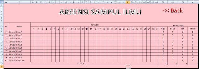 Tutorial Pembuatan Absensi Menggunakan Ms Excel 2007