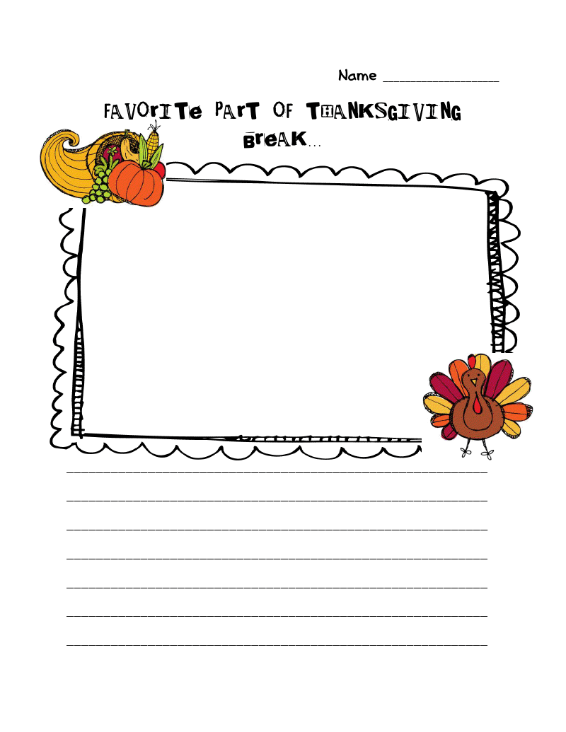 thanksgiving creative writing prompts