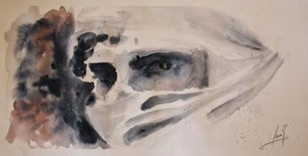 Ojos Jaime II. Acuarela 2012. 18x35cm
