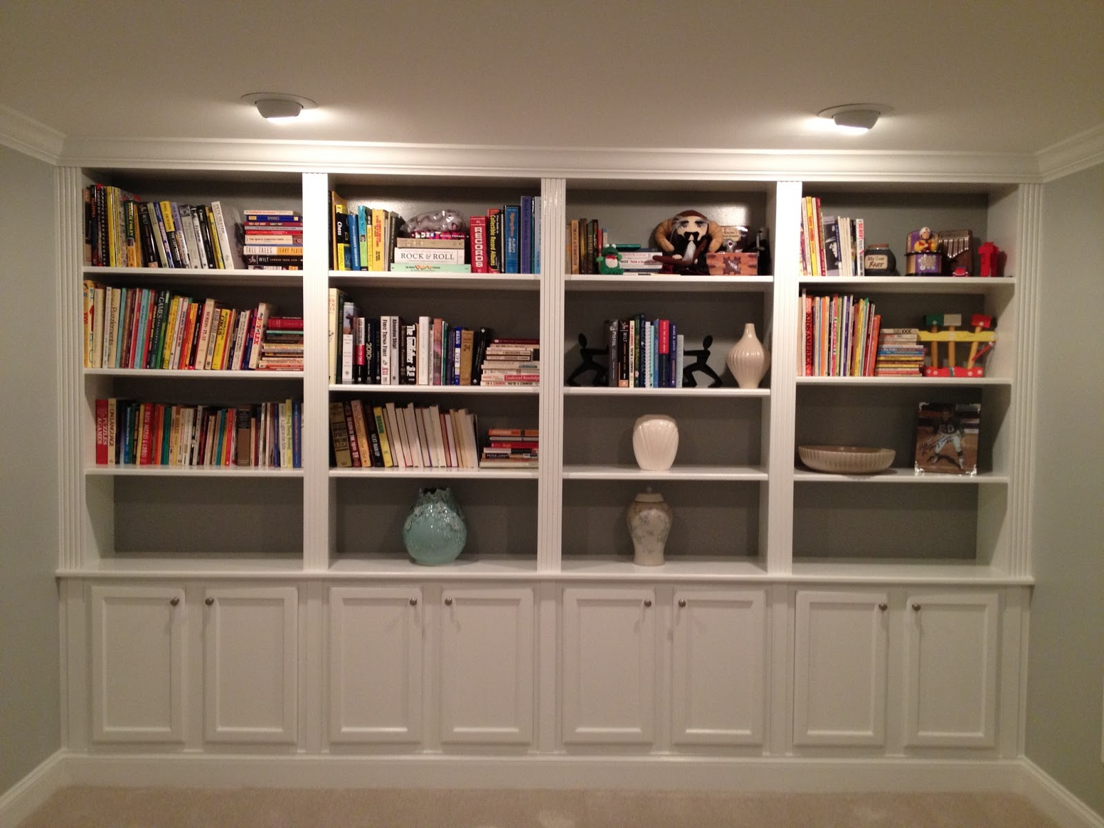Living Room Bookshelf Wall