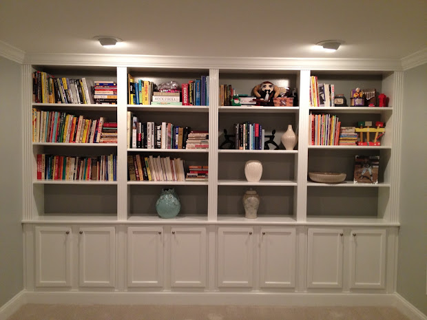 Built in Bookcase Wall Designs