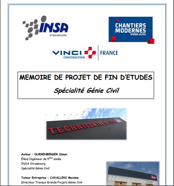 Top MEMOIRE DE PROJET DE FIN D'ETUDES Spécialité Génie Civil  XA94