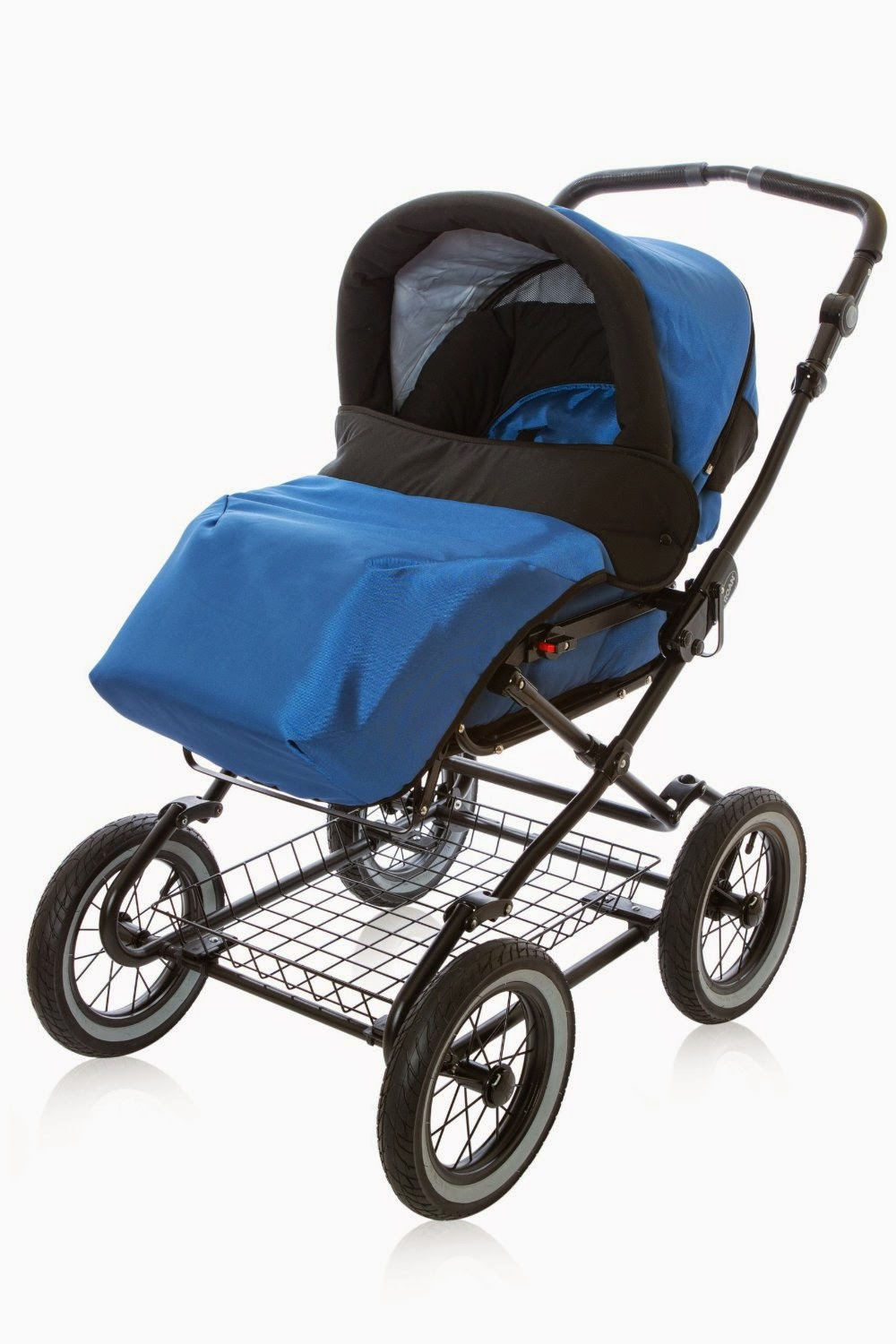 Sale: Roan Rocco Classic Pram Stroller 2-in-1 with Bassinet and Seat Unit Marine