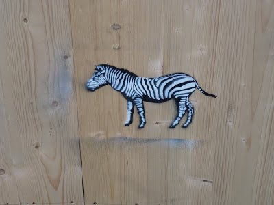 Zebra, Stencil, Tumbligerstraße, München