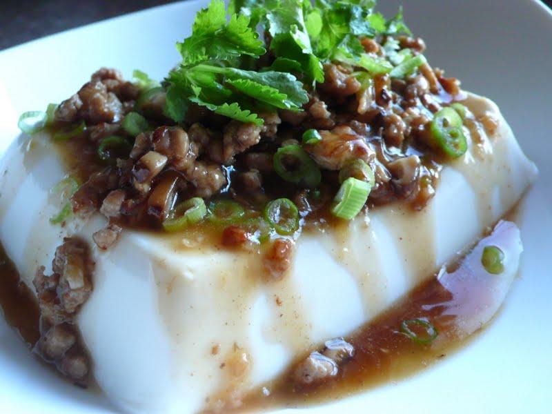 tofu with ground pork steamed egg tofu with minced steamed minced pork ...