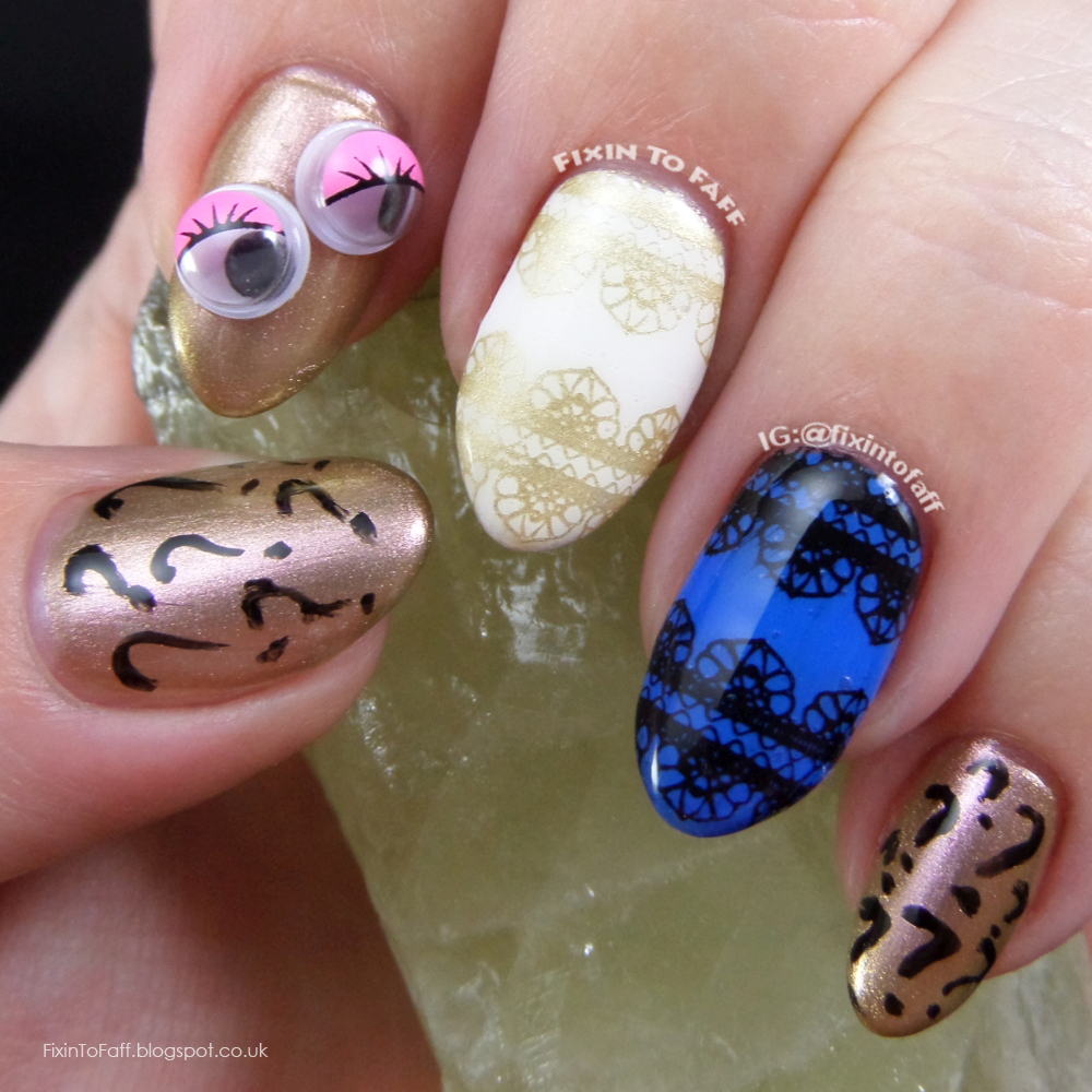 Nail art based on the dressgate thedress what color is this dress debate that rocked the internet.