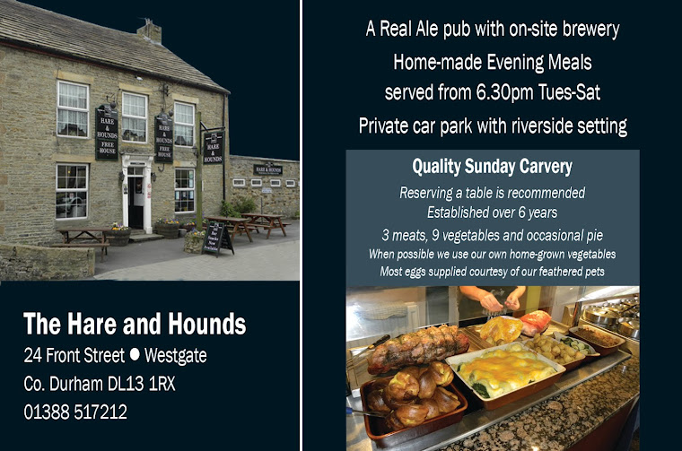 The Hare and Hounds country pub at Westgate in Weardale