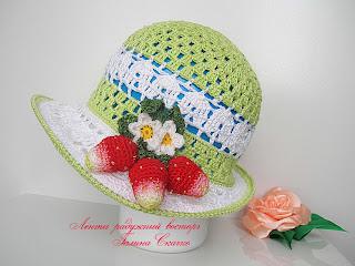 вязанние крючком, летние шляпы