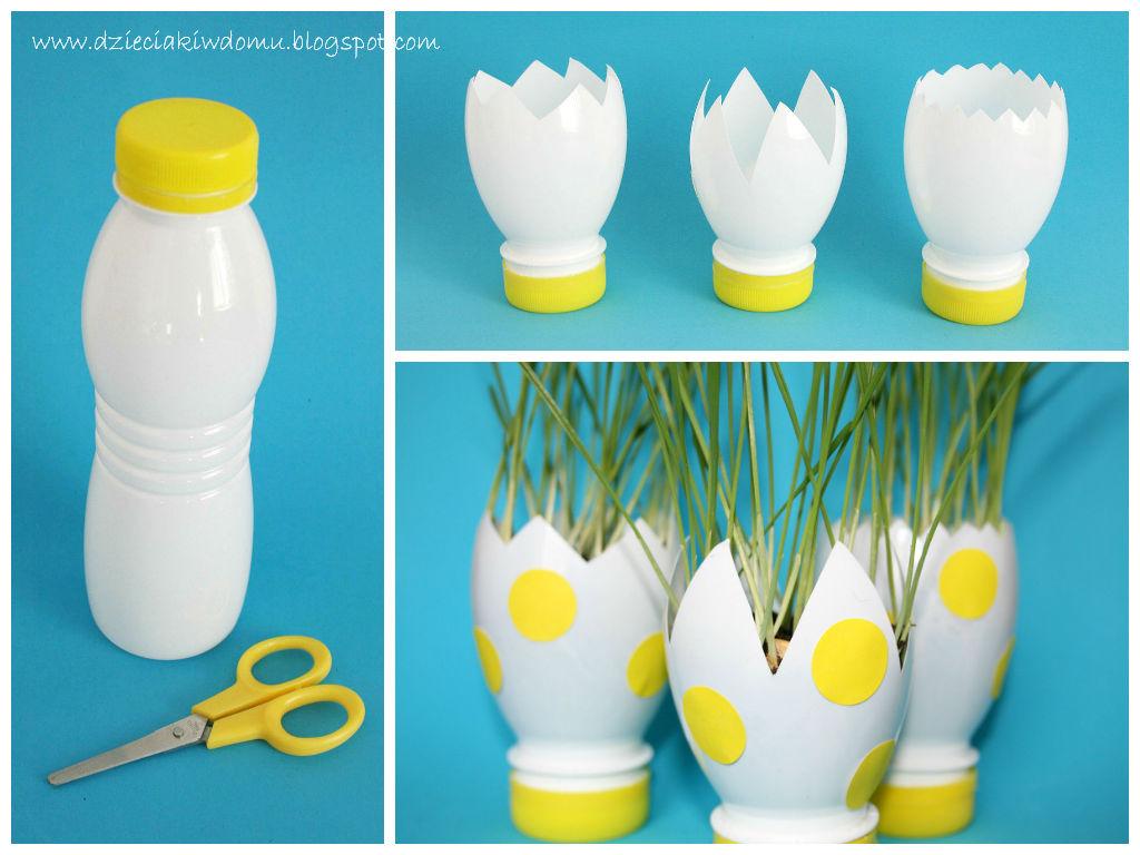 wielkanocny owies w ekodoniczkach - kreatywna zabawa dla dzieci