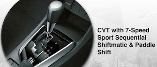CVT With 7-Speed Sport sequential shiftmatic & Paddle Shift