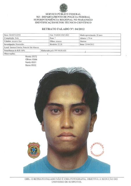 Retrato falado do suposto assassino do jornalista e blogueiro Décio Sá