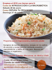 Cursos macrobiótica enero 2018 - Cubelles (Barcelona)