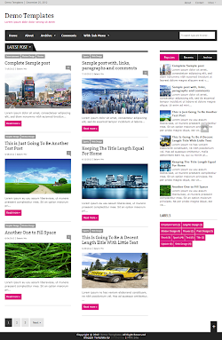 Extra News Pink Blogger Template