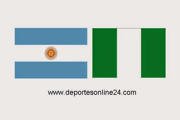 Argentina contra Nigeria por el Mundial 2014