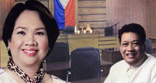 Catanduanes Gov. Araceli Wong and Vice Governor Jose Teves, Jr.