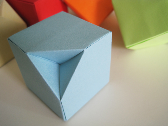 The Original Model Is Paul Jacksons Cube Which Just A Regular By Adding Few Creases We Get An Inverted Corner That Allows Them To Stack