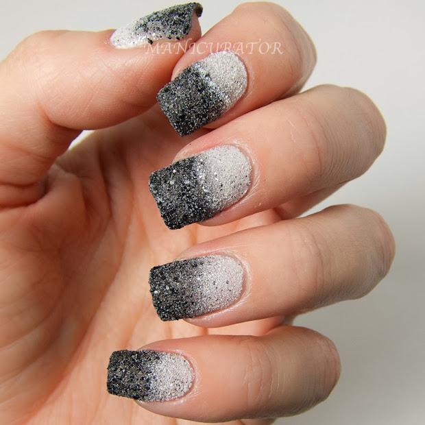 digital dozen black and white nail
