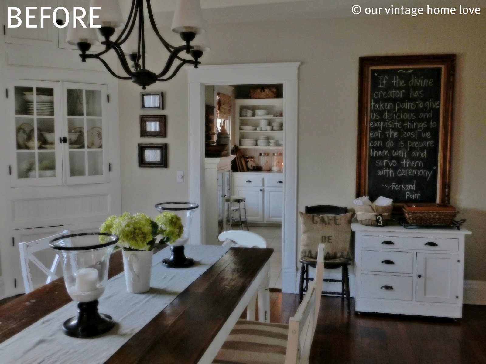 Vintage home love dining room table for Vintage style dining room ideas