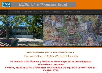 Sitio web del Liceo Bauzá