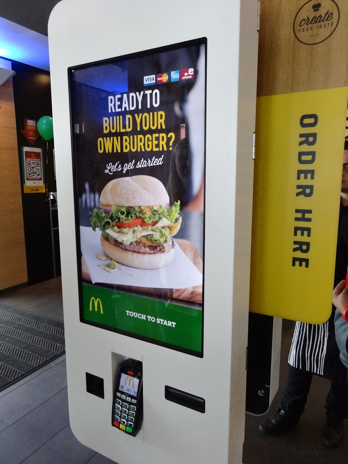mcdonalds, create your taste, adelaide, food, port adelaide, fries, burgers, custom, digital kiosk, order
