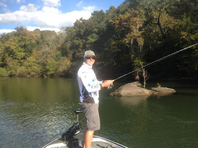 Took my Triton Boat up the rocky Flint River for shoal bass fishing