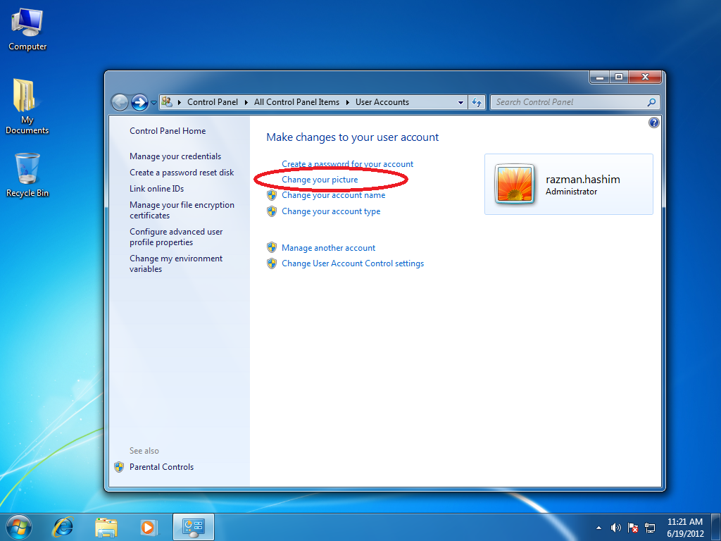 Windows 7 how can i open the user account control autos post for Change windows