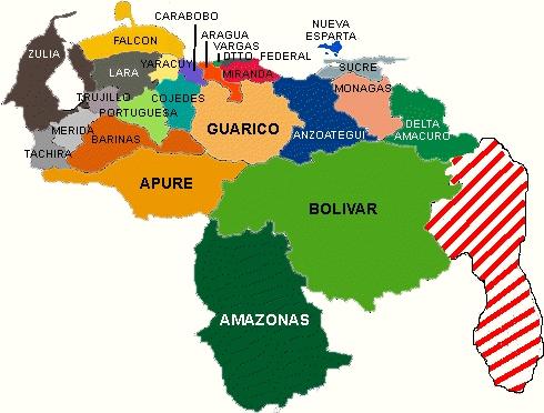 imagenes del mapa de venezuela