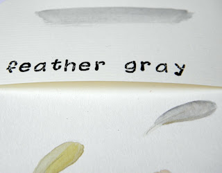 Color pick feather gray inspired by fairy tale mother hulda.
