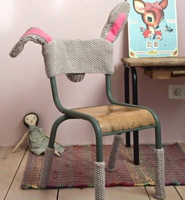 funda para silla infantil de ganchillo
