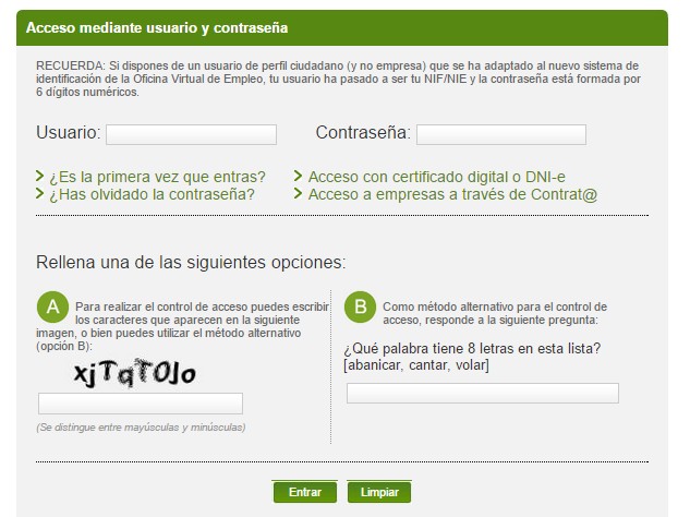 Gu a para crear tu curriculum vitae en la oficina virtual for Tu oficina virtual