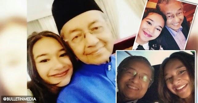 6 gambar Aksi Sempoi Tun Dr Mahathir Bergambar Dengan Cucu Meera Alyanna Mukhriz