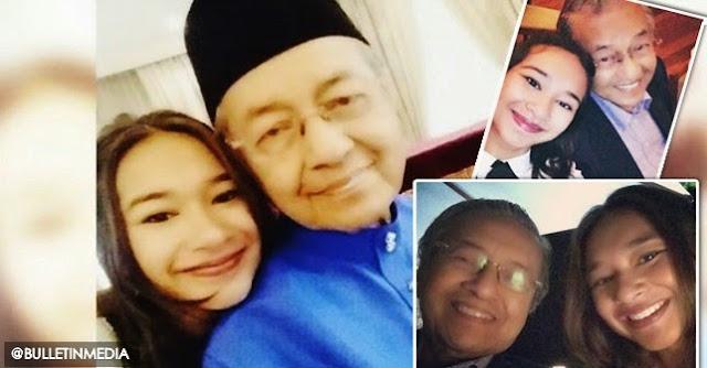 [6 gambar] Aksi Sempoi Tun Dr Mahathir Bergambar Dengan Cucu, Meera Alyanna Mukhriz
