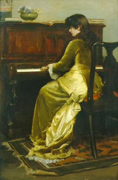 british paintings the reverie charles gogin 1900