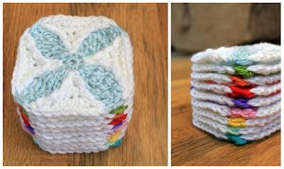 """3 1/2"""" Quilt Inspired Crochet Square"""