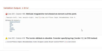 Posting Artikel Menyebabkan HTML Tidak Valid