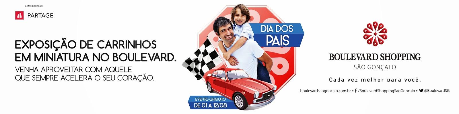 Boulevard São Gonçalo celebra Dia dos Pais com exposição em miniatura